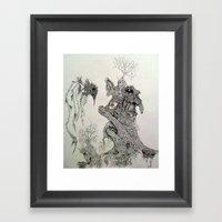 Perception Of A Starkly … Framed Art Print