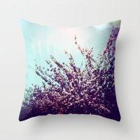 Holga Flowers II Throw Pillow