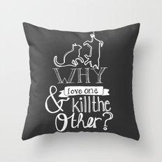Erase the Division Throw Pillow