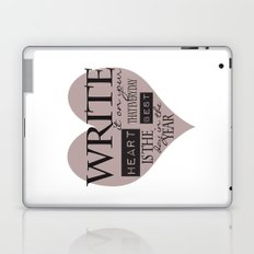Write It On Your Heart Design Laptop & iPad Skin