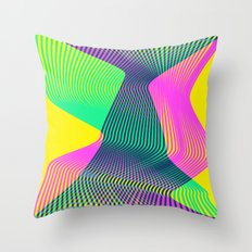 Waves on a new world Throw Pillow