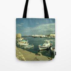 Heraklion old harbour Tote Bag