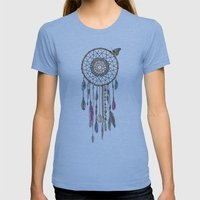 Lakota (Dream Catcher) Womens Fitted Tee Athletic Blue SMALL