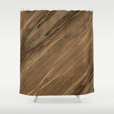 Etimoe Crema Wood Shower Curtain