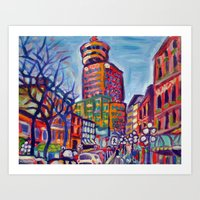 Harbour Centre From Gast… Art Print