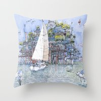 La Citta' sul mare Throw Pillow