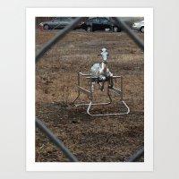 The Silver Hobby Horse 3 Art Print
