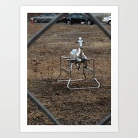 The Silver Hobby Horse 3 Art Print