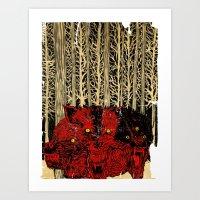 HELL WOLVES Art Print