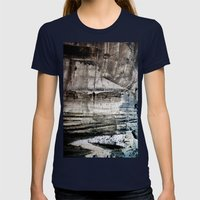 A Painterly Thing... Womens Fitted Tee Navy SMALL