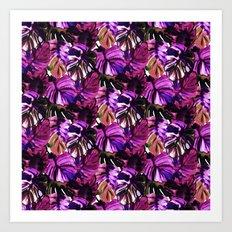 Palm Leaf Purple Pink Art Print
