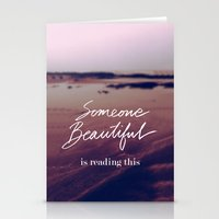 Stationery Card featuring Someone Beautiful is Reading this by Bright Enough💡