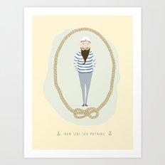 Ahoy, Sailor. Art Print