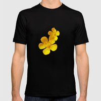 FLOWERS - Bonnie Buttercups Mens Fitted Tee Black SMALL