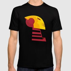 Classic man of iron SMALL Black Mens Fitted Tee