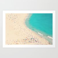 beach love III - Nazare Art Print