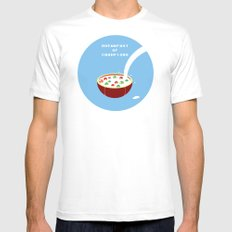 Breakfast of Champions White SMALL Mens Fitted Tee