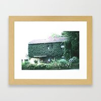Wine maker house Framed Art Print