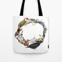 Bird Wreath Tote Bag