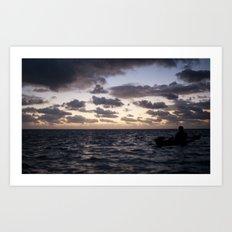 Kayak on the Water Art Print