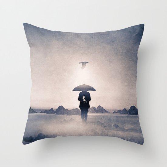 Waiting for the rain (colour option) Throw Pillow