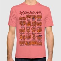 Happy Hyena Dance Mens Fitted Tee Pomegranate SMALL