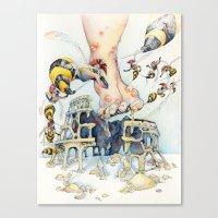 Roman Centurion Wasps Canvas Print