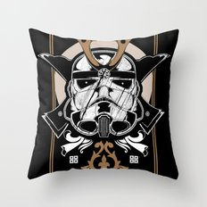 Trooper x Samurai Throw Pillow