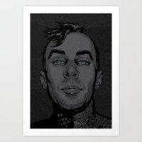 Travis Barker Art Print