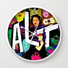 ALT1 by Steven Fiche Wall Clock