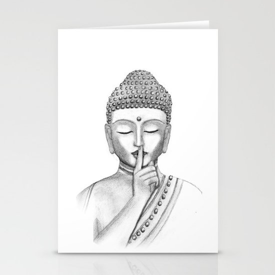 Shh... Do not disturb - Buddha Stationery Card