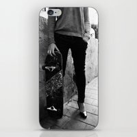 SkateBoard Girl iPhone & iPod Skin