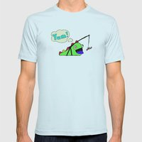 Hungry Slug Monster Mens Fitted Tee Light Blue SMALL