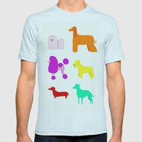 The Rainbow Dogs II Mens Fitted Tee Light Blue SMALL