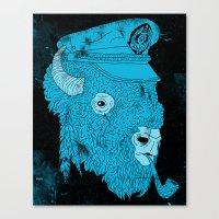 Buffalo Captain Canvas Print