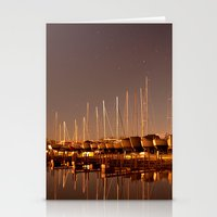 The Docks at Night Stationery Cards