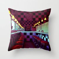 American diner Throw Pillow
