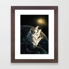 Floating In The Abyss Framed Art Print