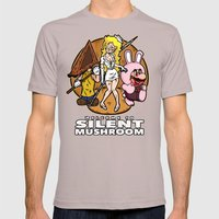 Silent Mushroom Mens Fitted Tee Cinder SMALL