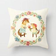 Otterly Grateful Throw Pillow