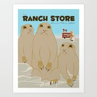 The Ranch Store Art Print
