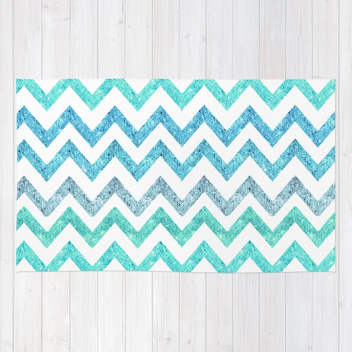 summer waves rug by girly trend society6