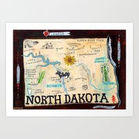 NORTH DAKOTA Art Print