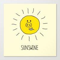 Sunswine Canvas Print
