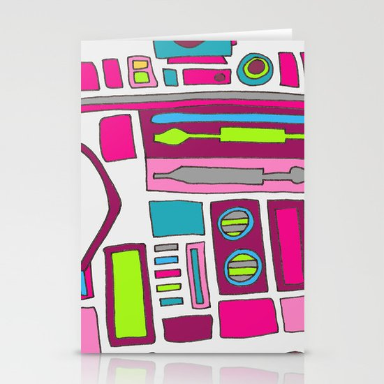Cool Girls Like Epic Droids Stationery Card