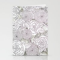 Floral Doodles in Gray Stationery Cards