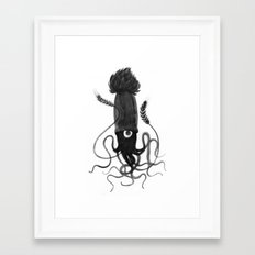 Beer Squid Framed Art Print
