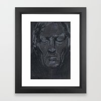 Portrait of man with eyes closed Framed Art Print