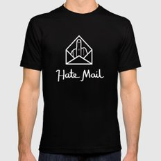 hate mail SMALL Mens Fitted Tee Black