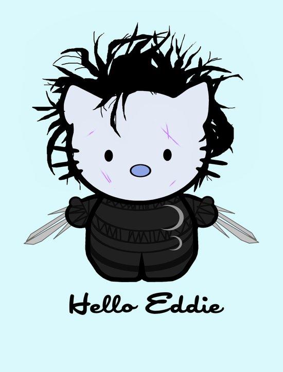 Hello Eddie Scissorhands Art Print